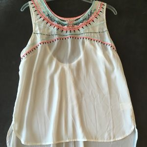 Cute white embroidered top
